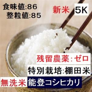 コシヒカリ 無洗米 新米30年産 特別栽培 棚田米(食味値86) 5K 世界農業遺産 能登里山の米|dotg-live