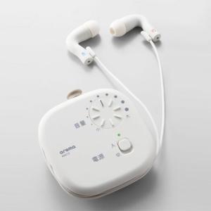 キングジム 集音器 AM10 シロ arema イヤホン コンパクト 簡単操作 音量調節(白) どっとカエール