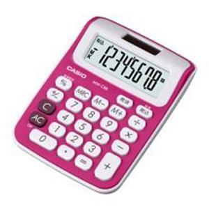 カシオ カラフル電卓 8桁 ミニジャストタイプ(ルージュピンク)|dotkae-ru