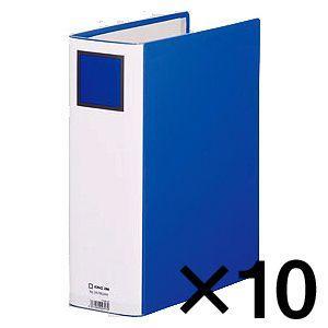 代引不可 キングジム キングファイル スーパードッチ〈脱・着〉イージー GXシリーズ 10冊入 廉価版(A4判タテ型・両開き) 背幅:96mm(青)|dotkae-ru