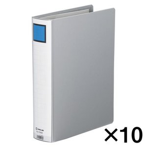 代引不可 キングジム キングファイル スーパードッチ 10冊入 GXタイプ 廉価版(A4判タテ型・両開き) 背幅:66mm(グレー)|dotkae-ru