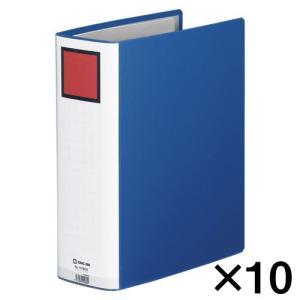 代引不可 キングジム キングファイル スーパードッチ 10冊入 GXタイプ 廉価版(A4判タテ型・両開き) 背幅:96mm(青)|dotkae-ru