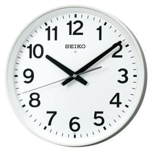 セイコー 掛時計(電波時計 掛け時計 壁掛け時計 電波クロック オフィス 学校) (連続秒針)  dotkae-ru