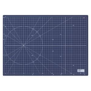 オルファ ふたつ折りカッターマット A3 ネイビー 折り畳めば ほぼA4サイズ|dotkae-ru