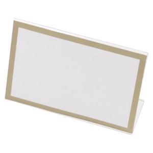 クラウン L型カード立 本体(再生PET樹脂製)...の商品画像