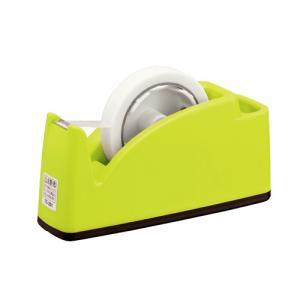 プラス テープカッターTC−201 ポケット付(ライトグリーン)