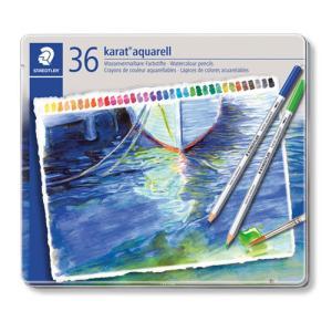 ステッドラー カラトアクェレル水彩色鉛筆 36色 36色/缶入|dotkae-ru