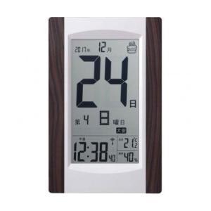 アデッソ デジタル日めくり電波時計|dotkae-ru