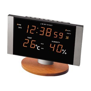アデッソ LED温湿度電波クロック C-8305OR|dotkae-ru