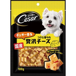 マースジャパン Cesar シーザースナック チェダー香るコクと香りの贅沢チーズ 100g ペット用...