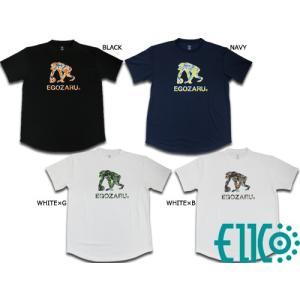EGOZARU/エゴザル 別注 ピーチボタニカルロゴ Tシャツ (エイコーオリジナル)|double-clutch
