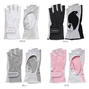 ダンロップ(DUNLOP) 女性用UVカットテニスグローブ ハーフタイプ両手組み TGG-0210|double-knot