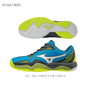 ウエーブインテンスツアー4AC 61GA180001 ミズノ/MIZUNO テニスシューズ オールコート向き 2018年モデル|double-knot