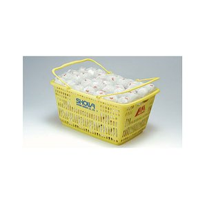 ショーワ(SHOWA) 赤M カゴ入り 軟式テニスボール/ソフトテニスボール・プラクティス 練習球 10ダース(120球) double-knot