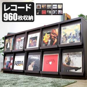 【2月中旬入荷】レコードラック 4マス 6マス LP収納 ディスプレイラック ディスプレーラック レコード収納 double-oo