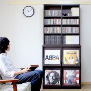 【2月中旬入荷】ディスプレイラック ディスプレーラック 4マス ブックシェルフ 本棚 CD収納 レコードラック レコード収納 レコード棚 LP収納  double-oo