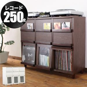 1年保証110幅 3段3列 ディスプレイラック レコードラック チェスト クロスガラス CD BD DVD 本 ブック 漫画 雑貨 double-oo