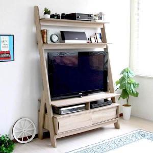 テレビ台 おしゃれ ハイタイプ シェルフ 北欧 幅120cm テレビボード 壁面収納 アンティーク ...
