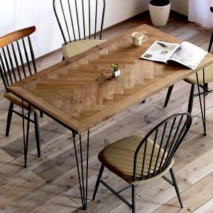 ダイニングテーブル おしゃれ テーブル 木製 無垢 古木 アンティーク 幅140cm ビンテージ 西海岸風 食卓 単品の写真