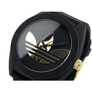 アディダス ADIDAS サンティアゴ メンズ腕時計  ADH2712 ブラック×ゴールド  メンズ腕時計