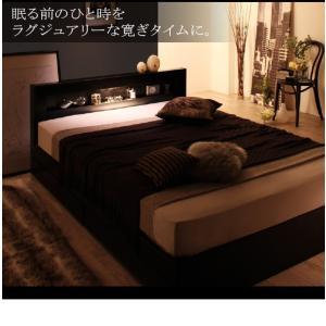 収納付きベッド ダブル マットレス付き プレミ...の詳細画像4