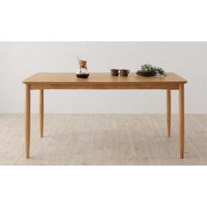 ダイニングテーブル おしゃれ W150 天然木オーク材 北欧|double