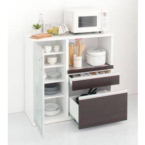 (組立設置) キッチンカウンター おしゃれ 幅100 スリム奥行41cm|double