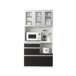 (組立設置) キッチンボード おしゃれ 幅90 スリム奥行41cm|double