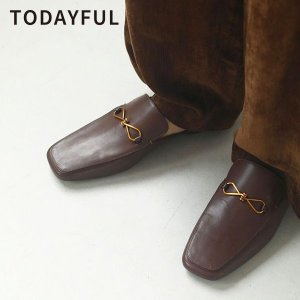 TODAYFUL トゥデイフル 20秋冬 9月中旬予約 Leather Slide Loafers ...