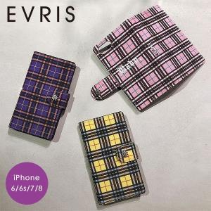 【SE/8/7/6対応】EVRIS エヴリス 【EVRIS×須田アンナ】チェックiPhone Cas...