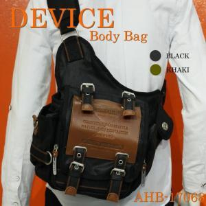 DEVICE/ディバイス/ボディバッグ/ミリタリー/レザー/ショルダー/コーティング/キャンバス/本革/AHB-17068