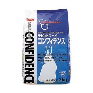 【ポイント2倍】ウサギ用【コンフィデンス:3Kg】×【1袋】フィード・ワン【レビューを書いてポイント2倍】|doubutsunotame