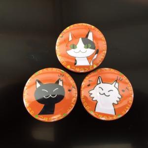 缶バッチ3個セットbyミカミミカ|doubutu-kikin