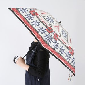 **【ネット限定セール20%OFF】manipuri〔マニプリ〕193672008ヴィンテージスカーフプリント折りたたみ傘(晴雨兼用)【P2】|douceharmonie-ndc