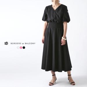 **【ネット限定セール20%OFF】(R)BORDERS at BALCONY〔ボーダーズ アット バルコニー〕BD2011-3E-26RESORT DRESS/シャーリングドレス【P2】|douceharmonie-ndc