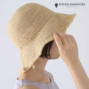 **Helen Kaminski〔ヘレンカミンスキー〕EMMIE9Emmie 9/フリンジラフィアクロシェラウンドクラウンハット|douceharmonie-ndc