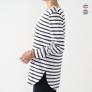 再入荷【21AWコレクション】Le minor〔ルミノア〕LM20G126MARINIERE FEMME/ボーダーロングスリーブTシャツ douceharmonie-ndc