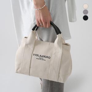 【21AWコレクション】VIOLA d'ORO〔ヴィオラドーロ〕V-1368Cキャンバスロゴ入りトートバッグ|douceharmonie-ndc