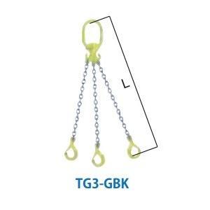 マーテック チェーンスリング 使用荷重13.5ton 3本吊りセット TG3-GBK13