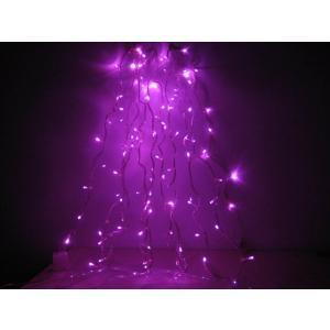 クリスマスイルミネーション(ピンク)LED100球 点灯パターンあり コード透明 訳あり/わけあり特価|dougumanzoku