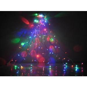 イルミネーションLED100球3色/青、赤、緑/電飾/点灯パターン自動 コード透明 訳あり/わけあり特価/在庫処分のため!/|dougumanzoku