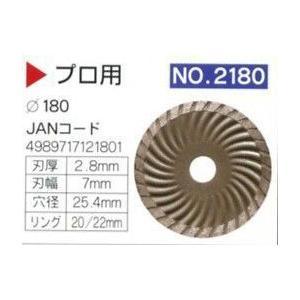 ダイヤモンドカッター 180mm プロ用 (わけあり) フランジとパッケージ無しのため特価!|dougumanzoku