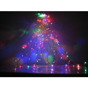 クリスマスイルミネーション LED100球 6色/MIX コード透明 訳あり/わけあり特価※|dougumanzoku