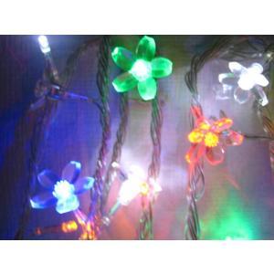 クリスマスイルミネーション/さくら花/LED100球/色ミックス 点灯パターンあり、コード透明 訳あり/わけあり特価!|dougumanzoku