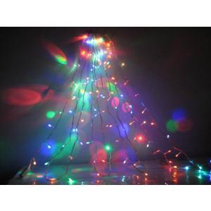 クリスマスイルミネーション LED200球/マルチ/4色 点灯パターンあり コード透明 訳あり/わけあり特価!|dougumanzoku
