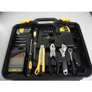 工具セット ドリル刃、プライヤー、モンキーレンチ、ラチェットハンドル他 アウトレット特価※特価の理由をご確認ください|dougumanzoku