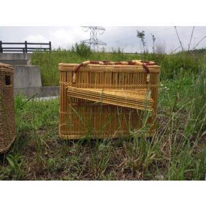 天然素材 ペット用品 キャリーバック/竹製 大型 ※竹で一つ一つ手作りしています 涼しくて丈夫、優しさがあります。 訳あり/わけあり特価|dougumanzoku