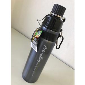 【在庫限り】ステンレスボトル水筒500ml アクティブボーイ スリム/ハンドル付き/クール専用/色:ブラック 新学期に!|dougumanzoku