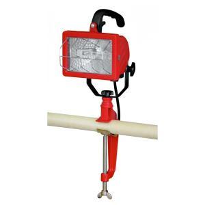 ハロゲン投光器 250W クランプ式 電球付きですぐ使える 訳あり特価/見本品/箱いたみ又は代用箱のため|dougumanzoku