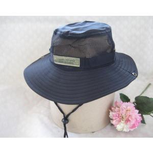 【暑さ対策】ぐるりと周囲メッシュで涼しい!帽子 ガーデニング/お出かけ/日焼け対策に つばにボタンあり&首ひも付き※特価|dougumanzoku